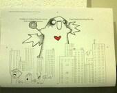 GODZILLA - dinosaur doodles - Original illustration