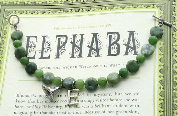 Elphaba Wicked Witch of the West Jade Healing Bracelet