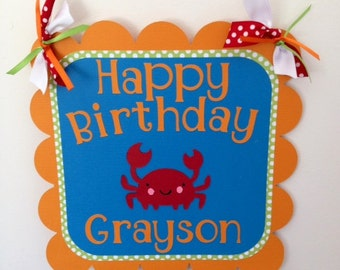 Under the Sea Door Sign Wall Sign Birthday Sign