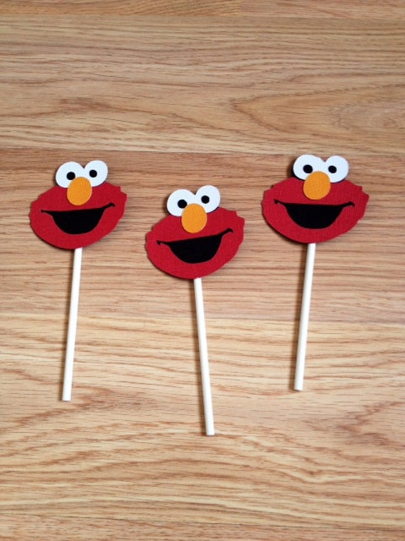 Toppers Elmo Birthday Decorations Cake Topper First
