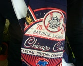 Chicago Cubs Scarf - Upcycled Tee Shirt Scarf