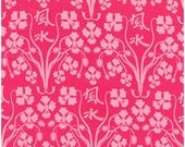SALE Fabric-Sanctuary Orchid Feng Shui in Berry by Michael Miller Fabric 1 yard