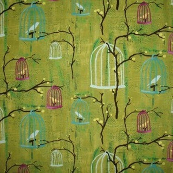 Fabric-Hanging Cages in Lime by Michael Miller
