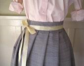 SAMPLE SALE Women's Plaid Ballerina Skirt With Ribbon Sash