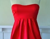 """The """"Taylor"""" Party/ Cocktail Corset Top in Red"""