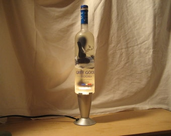 Lava Lamp Light Grey Goose Vodka 750 ML
