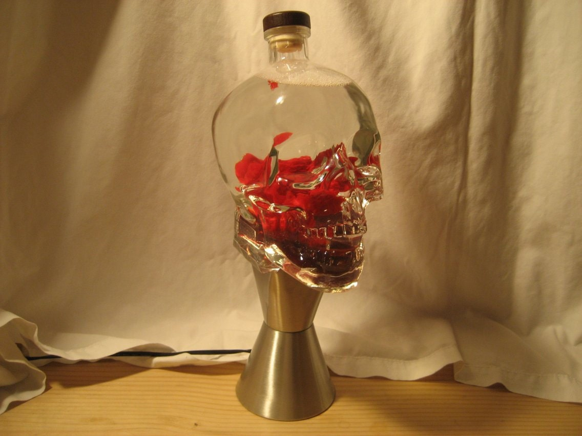 Custom Lava Lamp Light 1.75 Liter Crystal Head Vodka Skull