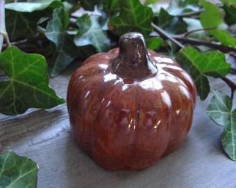 Pumpkin - Cement Statue Figurine - Indoor Outdoor Decoration - Garden, Table, Party
