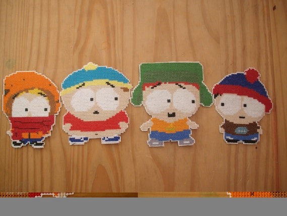 South Park Preschoolers set of magnets/ornaments