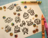 Monster Rubber Stamp Hand Carved Any 1pc for 6.50