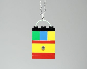 Pendant Necklace made with LEGO (R) and Swarovski Crystal
