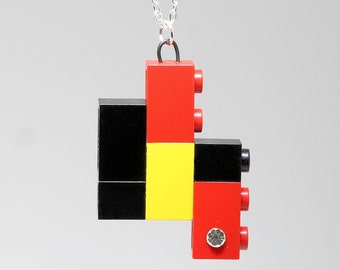 Pendant made with LEGO (R) and Swarovski Crystal