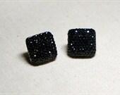 Glitter black Earring