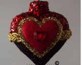 Handmade Heart Shaped Ornament Great Christmas,Anniversary and Valentine's Day Gift.