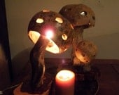 Whimsical mushroom lamps