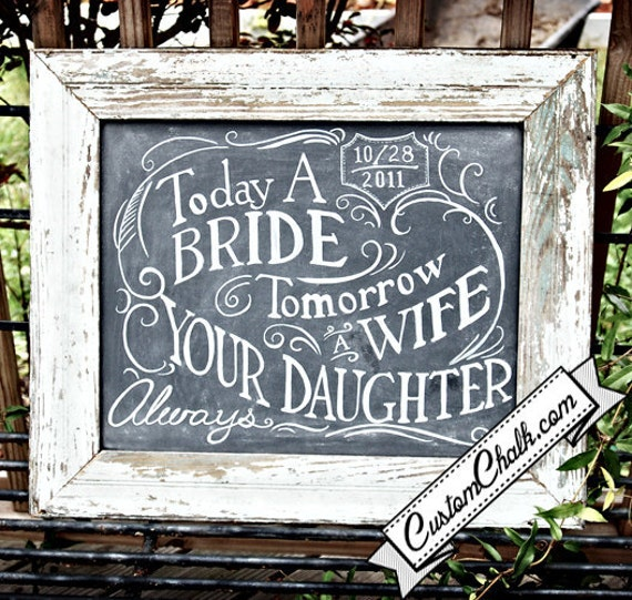 Wedding Gift For Mother Of Bride : Items similar to Wedding chalkboard gift for mother of the bride ...