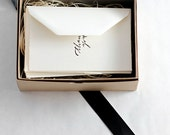 Hand-printed calligraphy thank you stationery set