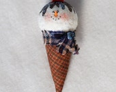 Snow Cone Snowman Ornament