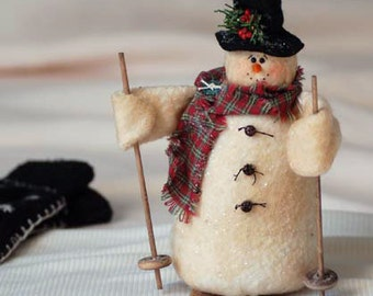 Snowman with Skis