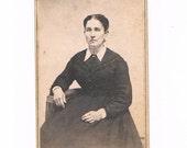 CDV Carte De Visite Photograph of 1870's Woman, Horseheads NY
