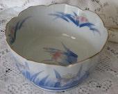 Vintage Kosan Kiln Porcelain Gold Rim Bowl  Japan