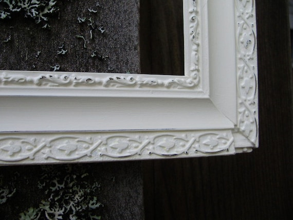 Vintage Frame Hand Painted Light Ivory White Beach Wedding Beautiful