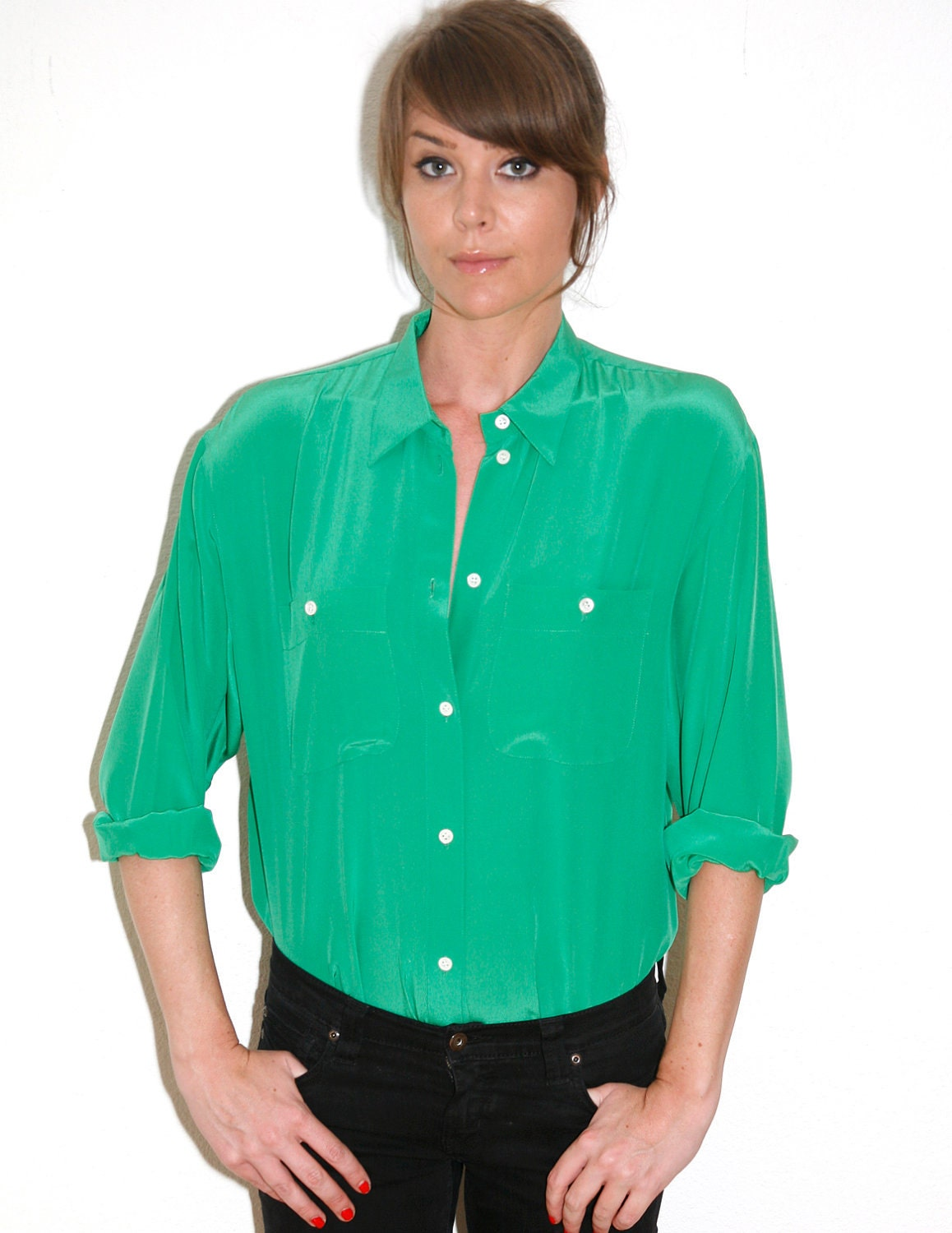 matches. ($ - $) Find great deals on the latest styles of Bright green blouse. Compare prices & save money on Women's Shirts & Blouses.