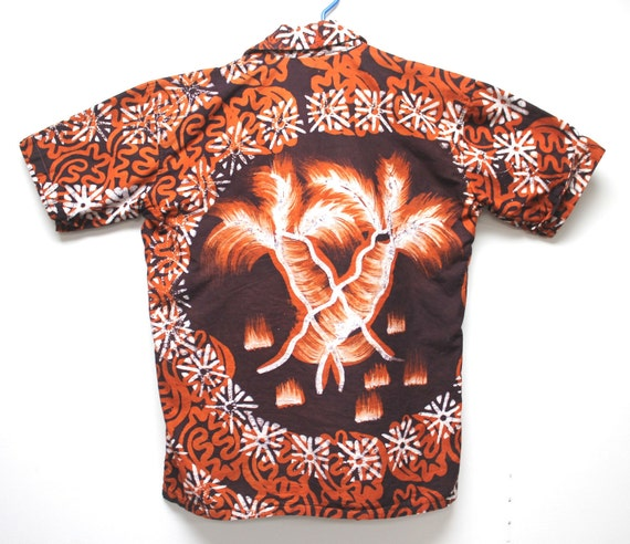 Batik Shirt Vintage Hawaiian Shirt Large Cotton Pullover Shirt Vintage Menswear Gay Pride Cruise Wear Father's Day Gifts for Him Retro Tops