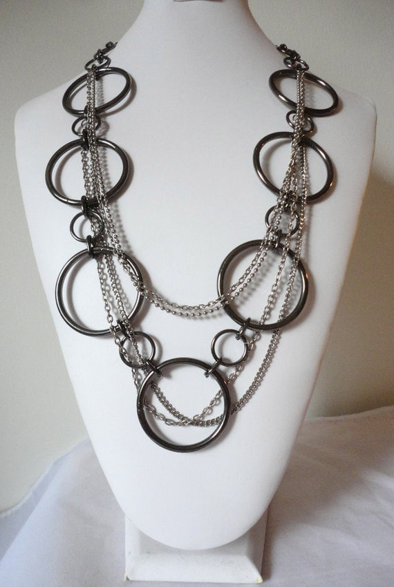 Edgy Recycled Stainless Steel Belt Necklace