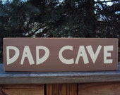 Dad Cave Wooden Sign Dad Gift Man Cave