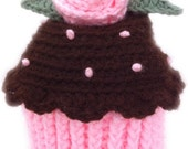 Cupcake hat with rose