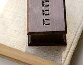 Personalizable Fathers Day gift for daddy wooden music box with folk art tulip