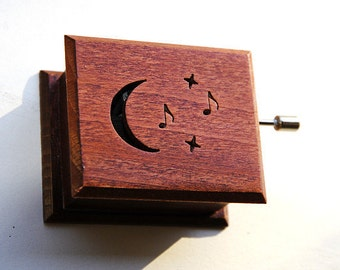 Wooden music box musical box Beethoven: Moonlight Sonata