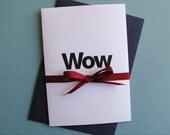 Greeting Card - Wow