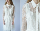 Handmade ByLouisa vanilla white lace dress