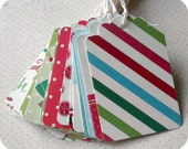 1.00 SALE Jolly and Bright Tags or Labels - Set of 23