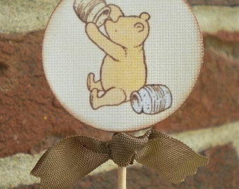 Classic Vintage Bear Cupcake Toppers- Set of 10