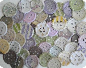 Lavender and Lace Paper Button (48) - Button Punch Out-Button Die Cut-Button Embellishment-Card Making Supplies-Paper Confetti-Paper Destash