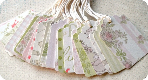 SALE - Shabby Princess Tags or Labels - Set of 23