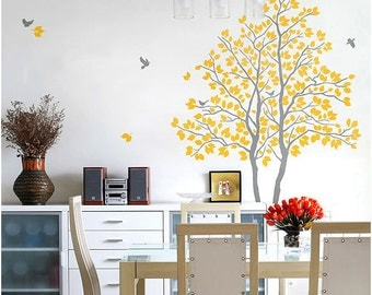 Tree Bird Flower Kids Wall Art / Wall Stickers / Wall Decals from AmazingSticker
