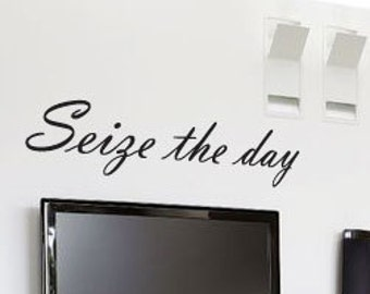 Seize the day Art Wall Quotes / Wall Stickers / Wall Decals from AmazingSticker