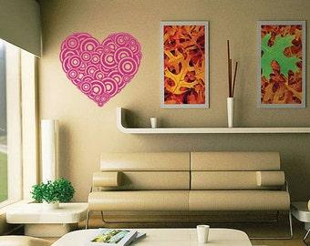 Dot Circle Heart Love Children Nursery Art Wall Stickers Wall Decals from AmazingSticker