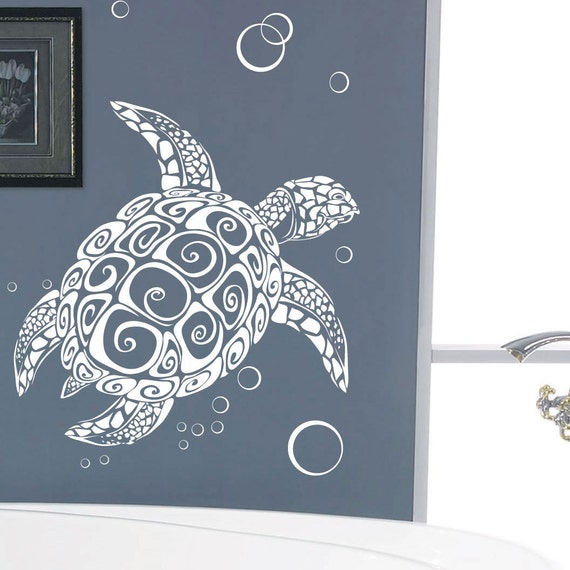 Turtle Bubble Animal Children Car Art Wall Stickers / Wall Decals / Wall Mural from AmazingSticker