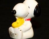 Vintage 1972 Snoopy and Woodstock Ceramic Figurine - Best Friends