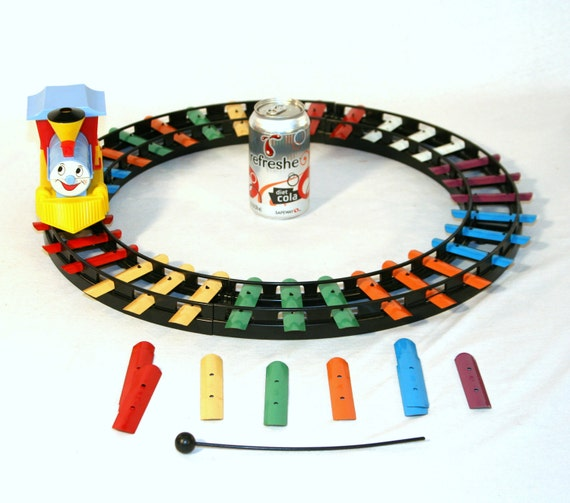 Vintage 1963 Musical Railroad Xylophone Train Toy by Child Guidance