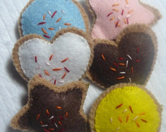 Children's Pretend Play Set of 6 Frosted Cookies
