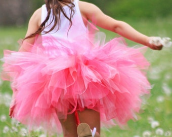 Pink Pixie Tutu - Girls Size 3 6 9 12 18 Months 2T 3T 4T 5T 6 7 8 10 12 Adult - First Birthday Skirt, Little Girls Halloween Costume