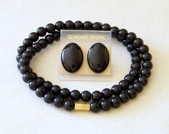 6mm Black Onyx Necklace VARIOUS Length Options. Genuine Natural Stone Beads. 6mm Black Onyx Beads. MapenziGems