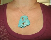 Turquoise Howlite Sterling Silver Necklace