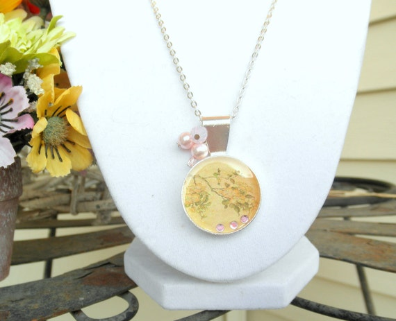Sakura Resin Necklace